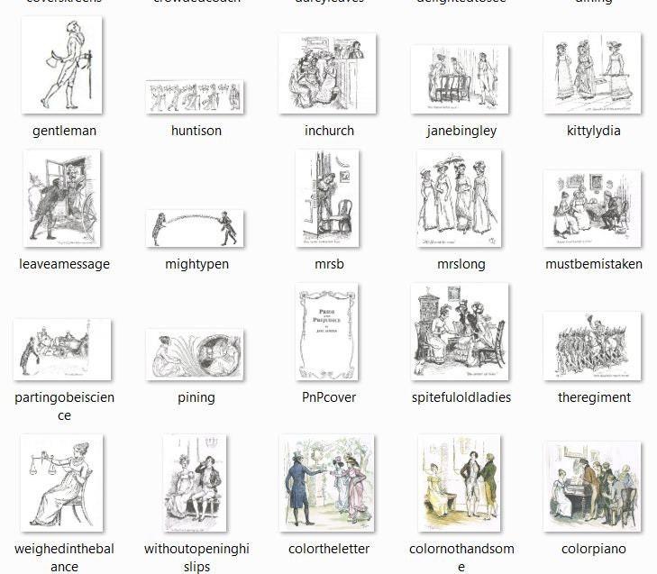 Hugh Thomson Jane Austen Pride and Prejudice Downloadable JPG