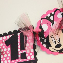 Mickey Mouse High Chair Decorations Blood Draw Minnie Birthday Party By