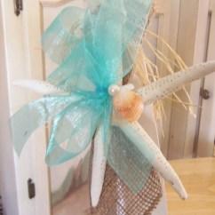 Starfish Wedding Chair Decorations Hanging On Wall Beach Decor Aisle And Seashell