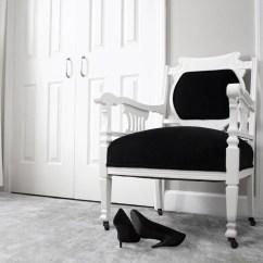 Black Velvet Chair Bean Bag Beads Antique Modern Victorian Eastlake