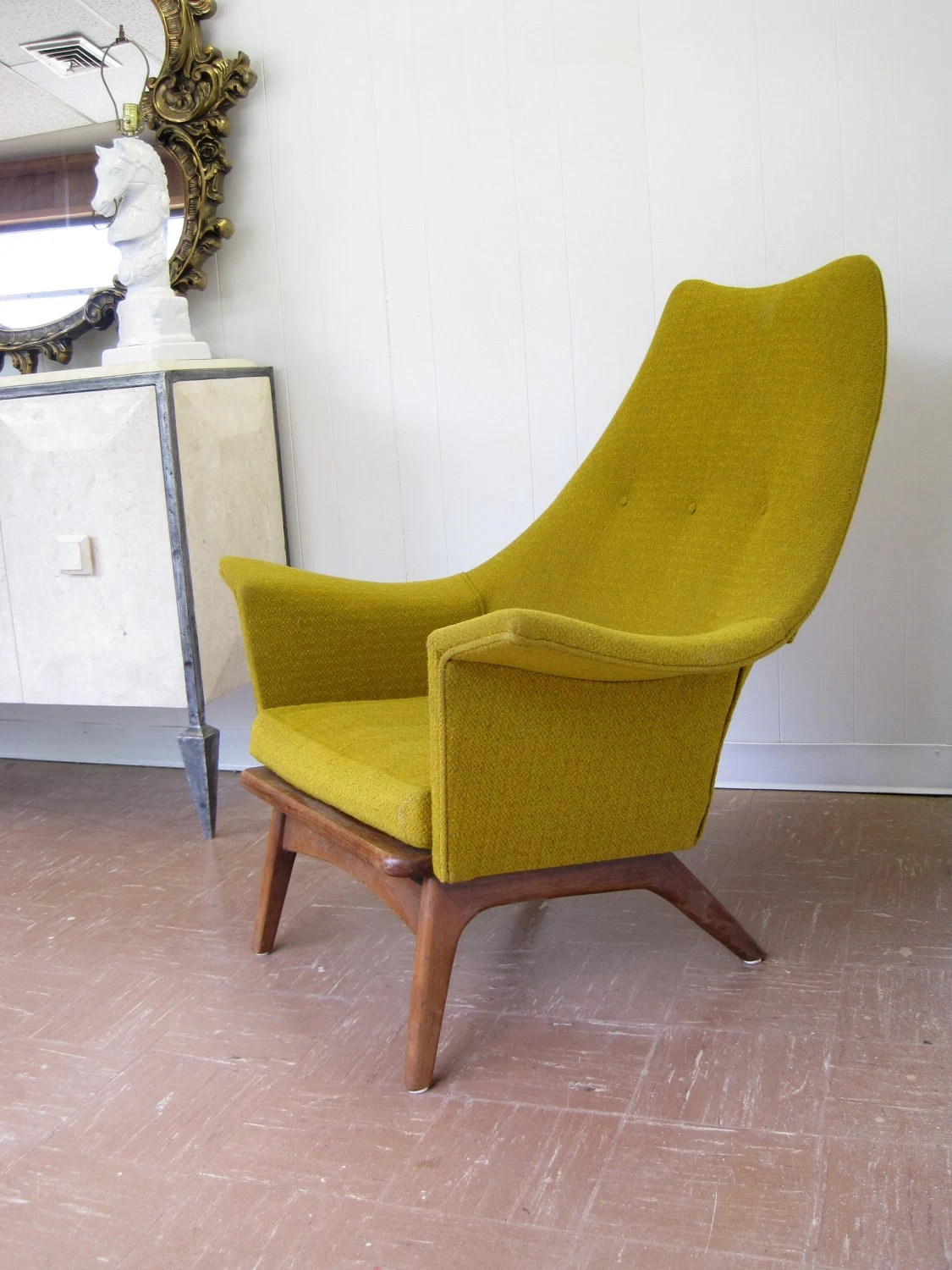 Mid Century Modern Lounge Chairs Mid Century Modern Lounge Chair In Mustard Yellow Chartreuse