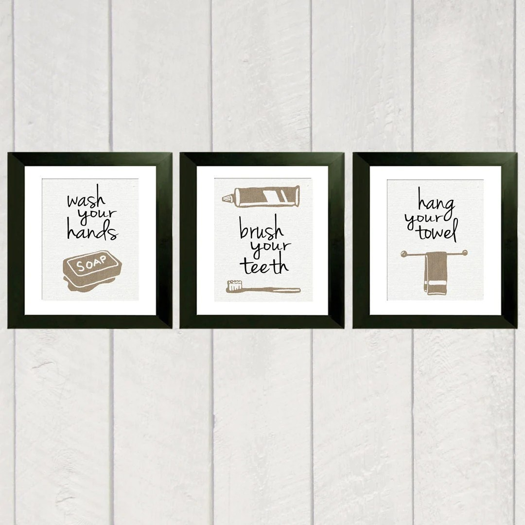 Bathroom Art Print Set of 3
