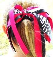 streamer boutique hair bow cheer