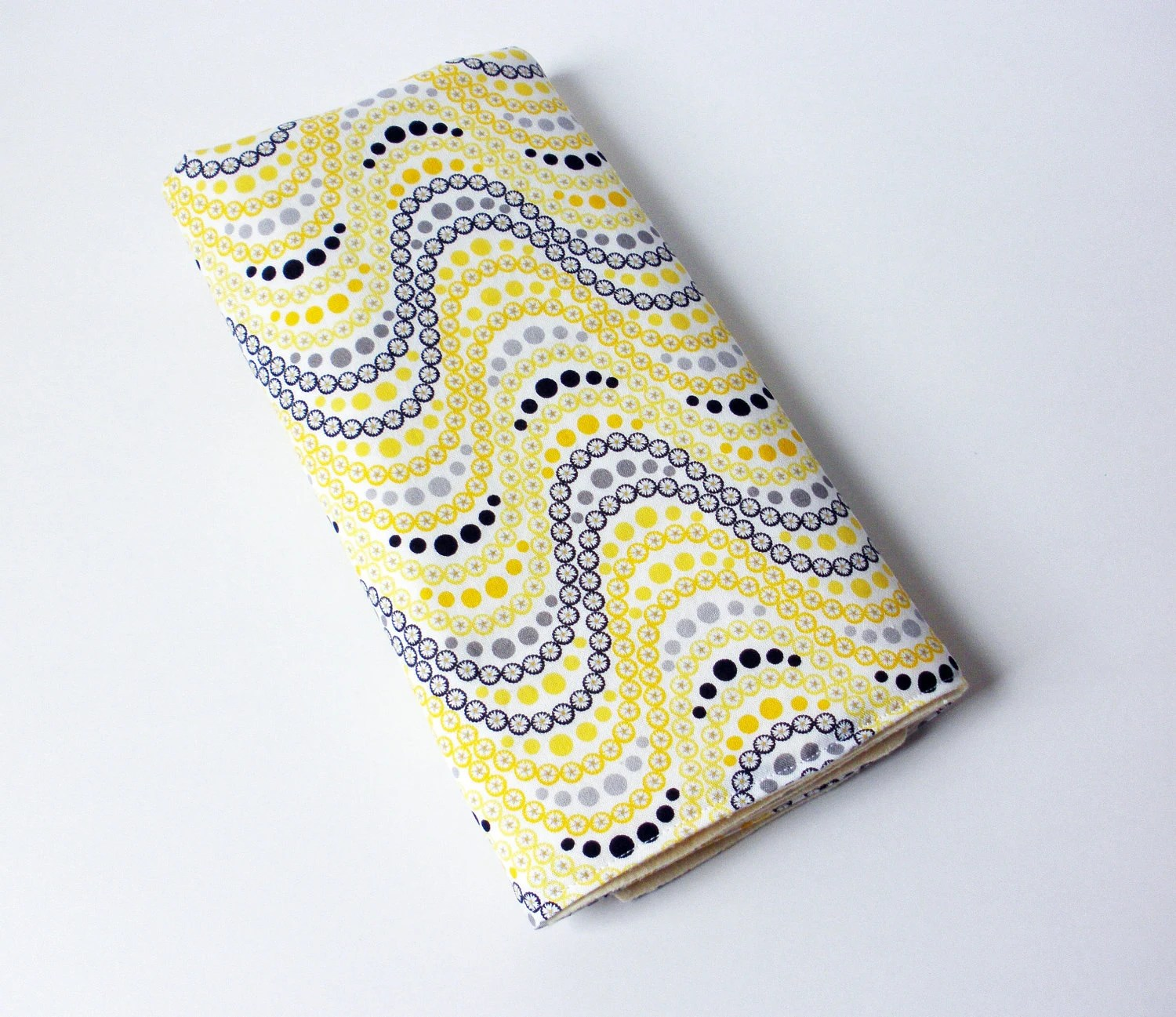 Yellow Baby Changing Pad - Yellow, Grey and Black Dots Baby Changing Mat - JulsSweetDesigns