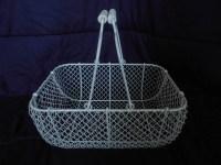 Decorative White Wire Basket