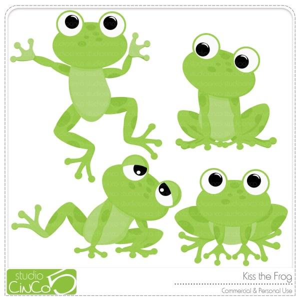 kiss frog digital clip art
