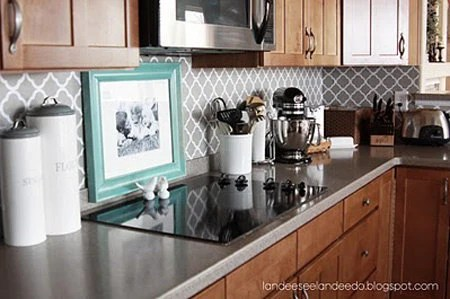Kitchen backsplash pantry or bathroom upgrade by LandeeOnEtsy