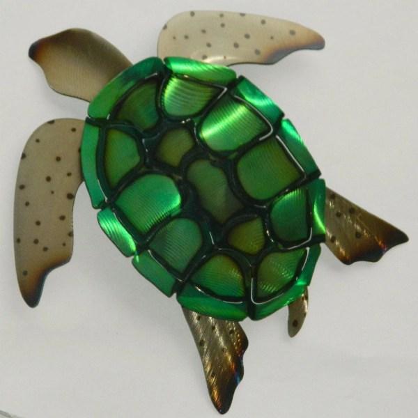 Sea Turtle Metal Art Sculpture Ericlangeliers