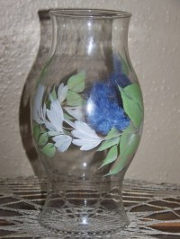 Items similar to Hand Painted Hurricane lamp globe. Glass