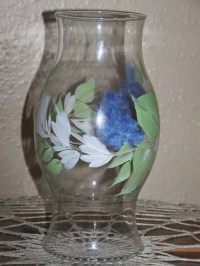 Items similar to Hand Painted Hurricane lamp globe. Glass ...