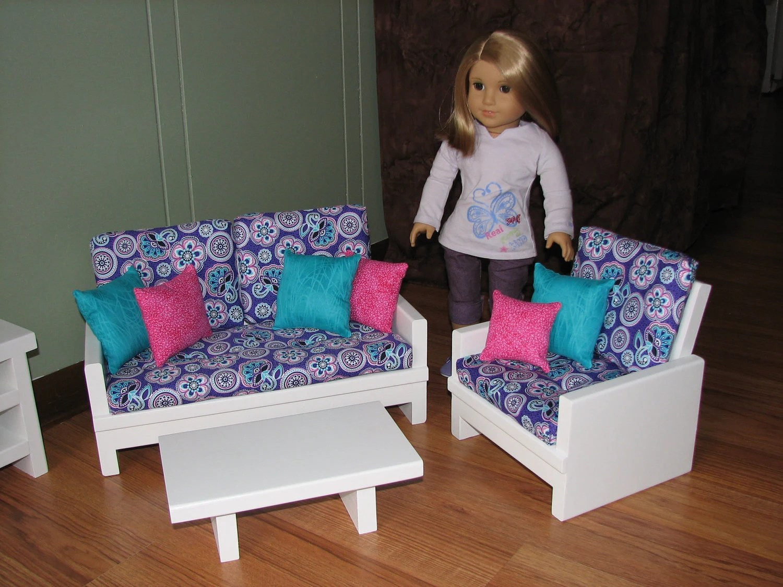18 doll sofa diy grey recliner inch home decor photos gallery furniture set for american girl loveseat tutorial