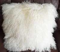 20 Mongolian Lamb Decorative Throw Fur Pillow
