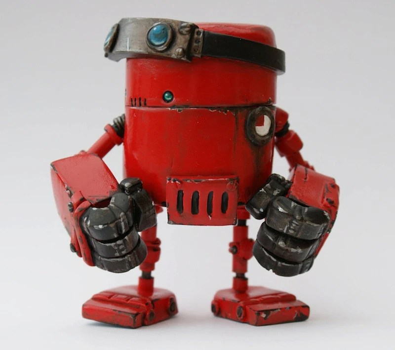 Custom Rusty Robot Minion Designed and Made for You - Spacecowsmith