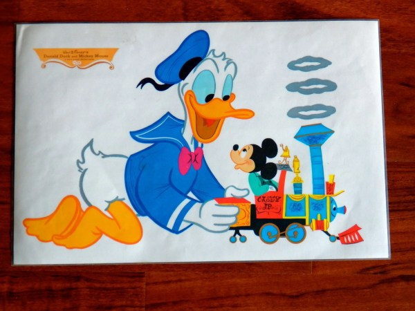 Vintage Disney Placemat Donald Duck & Mickey Mouse 1960s