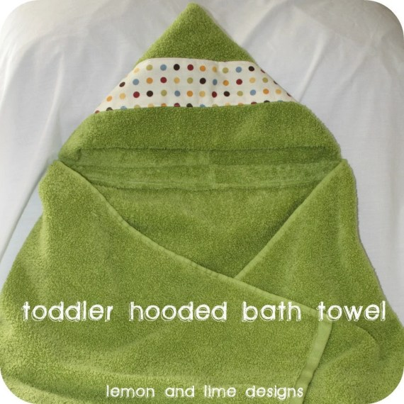 Custom Baby, Toddler, Child's Hooded Bath Towel - lemonandlimedesigns
