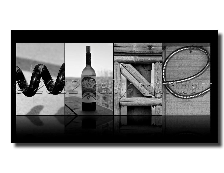 ALPHABET photography letter art WINE digital copy by kmunday