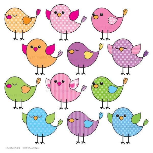 cute birds clipart clip art pink