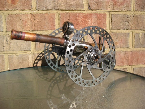 Steampunk Cannon Recycled Metal Sculpture