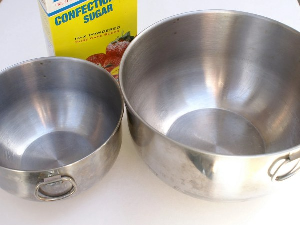 Vintage Metal Bowls With Handles Stainless Steel Mixing