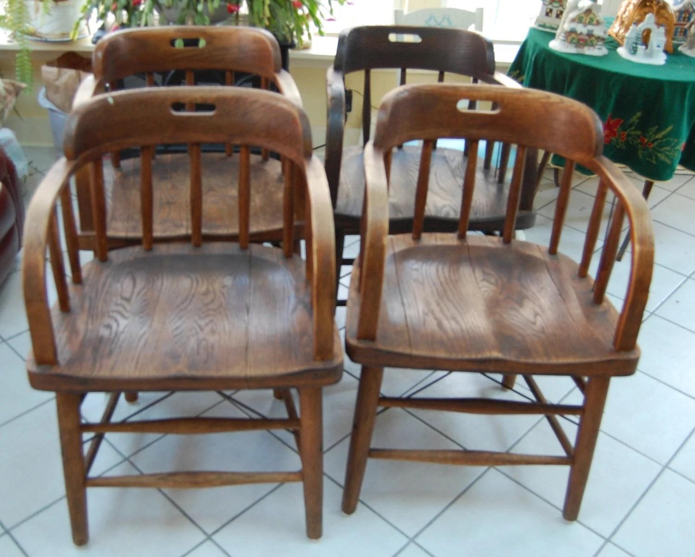 murphy chair company louis 15 dining chairs 4 antique oak pub by mariaetta co ohio
