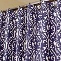 Oriental pattern shower curtain in indigo blue amp by laricahome