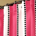 Pink shower curtain with candy pink amp white stripes by laricahome