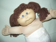 cabbage patch girl purple grey