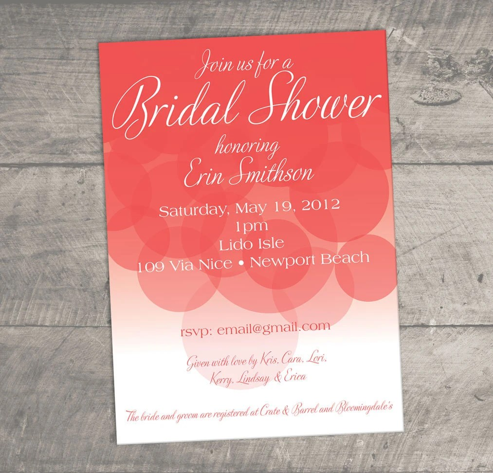 Bridal Shower Suggestions