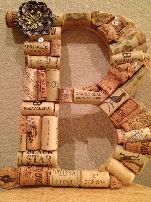 monogram wine cork