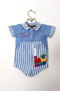 Vintage Baby Boy Train Outfit 12 Months