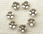 Silver-tone Forget-me-not Flower Spacer Bead (20) - SF12