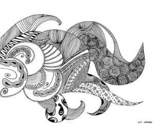 pen ink drawing monster sea sketch cardstock titled liveliness wow activity lot line pulpos creature arte