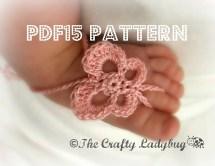 Butterfly Barefoot Baby Sandals Crochet Pattern Newborn