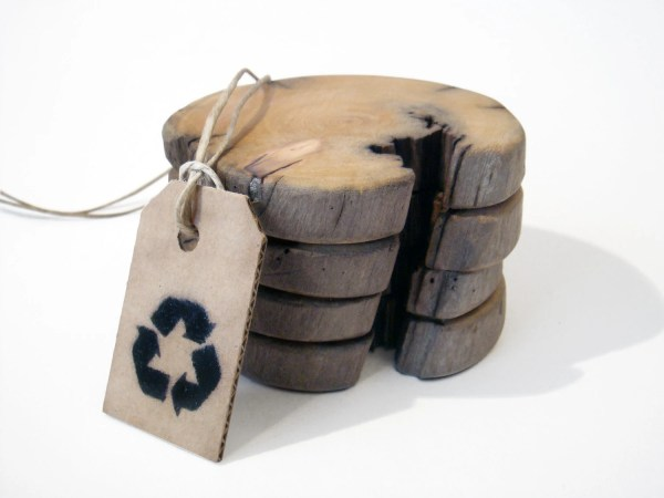 Driftwood Coasters. Icelandic Driftwood. Set Of 4. Wooden