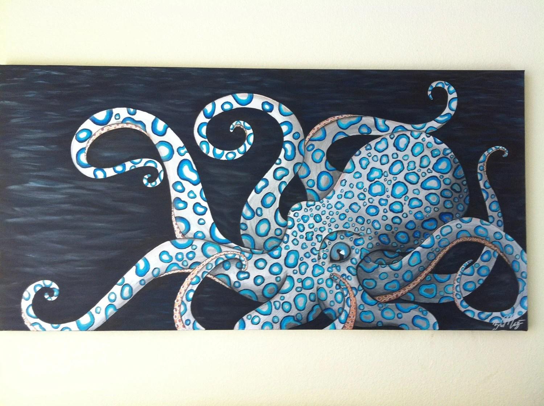 origional blue ringed octopus painting