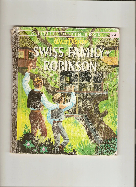 Vintage Little Golden Book Swiss Family Robinson