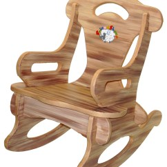 Toddler Wooden Rocking Chair Computer Back Support Brown Puzzle Rocker Solid Wood For By Dazzlecrystal