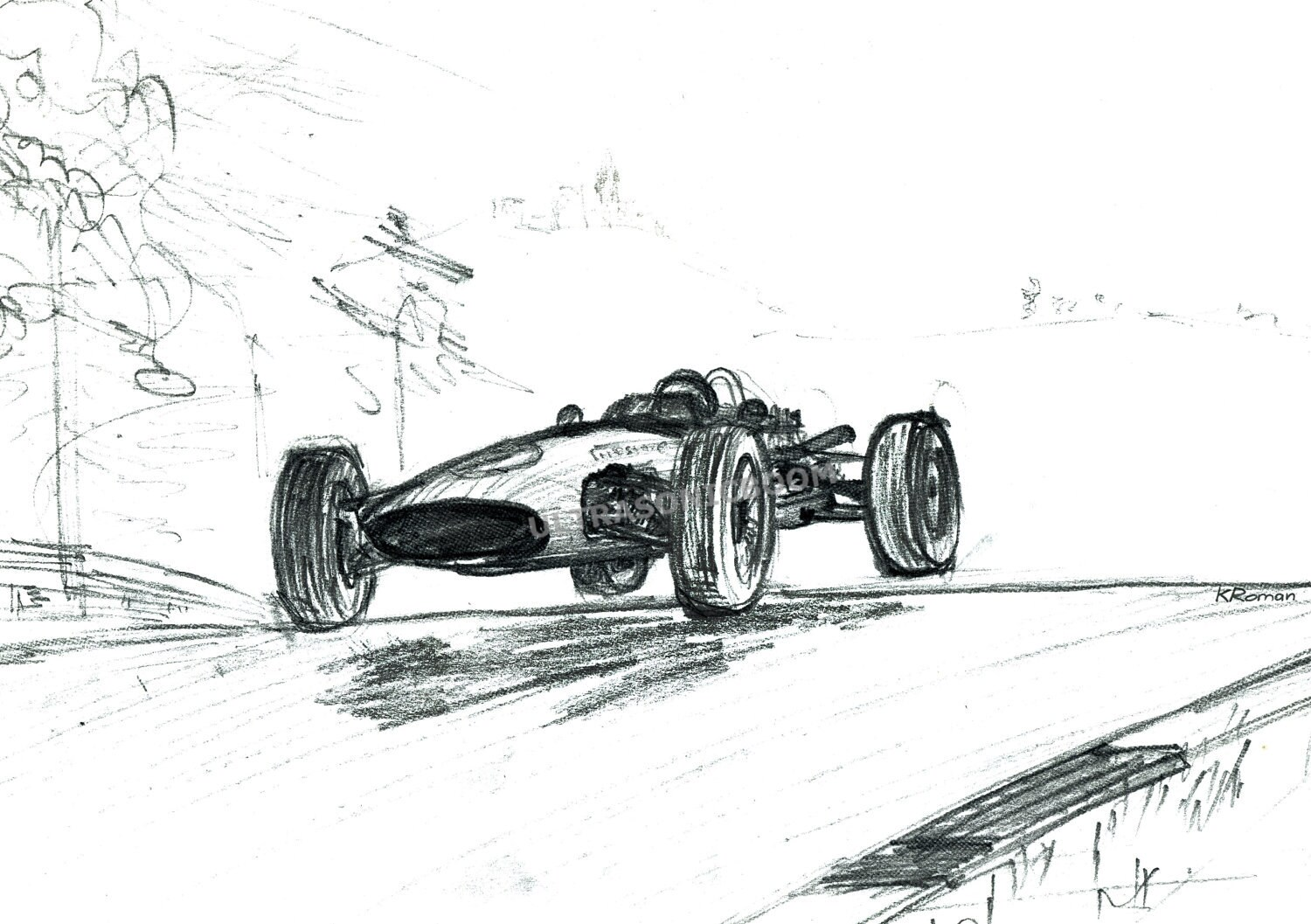 Classic Racing Car Vintage F1 Racing Car From By