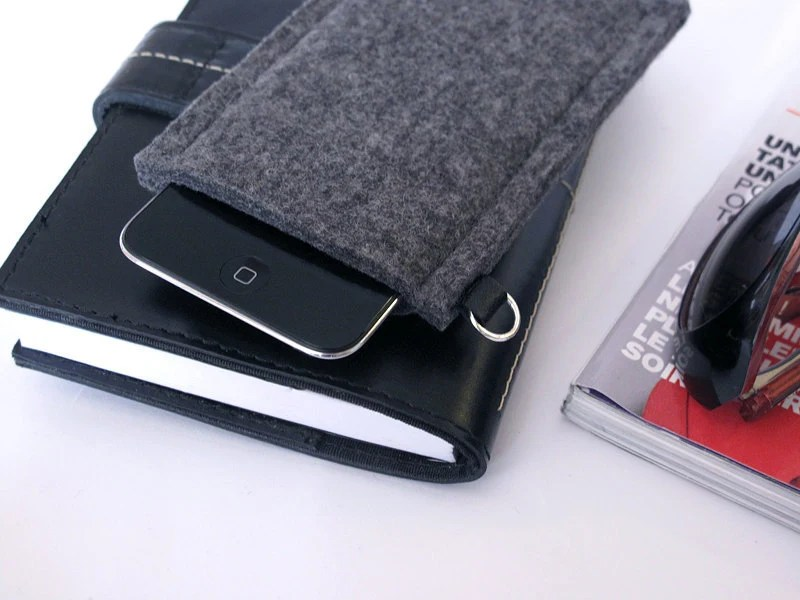 Housse iPod Touch/ Etui iPod Touch 5/  iPod Touch 4 en Feutre/ iPod Classic