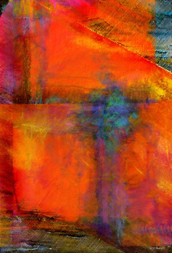 Orange Abstract Painting Art Digital