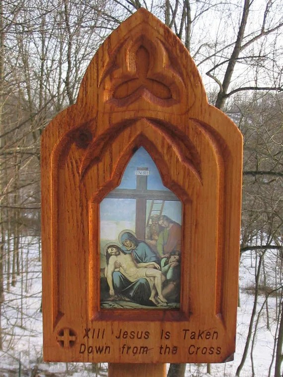 Items similar to Stations of the Cross Full set of 14 Outdoor Stations of the cross Ceramic