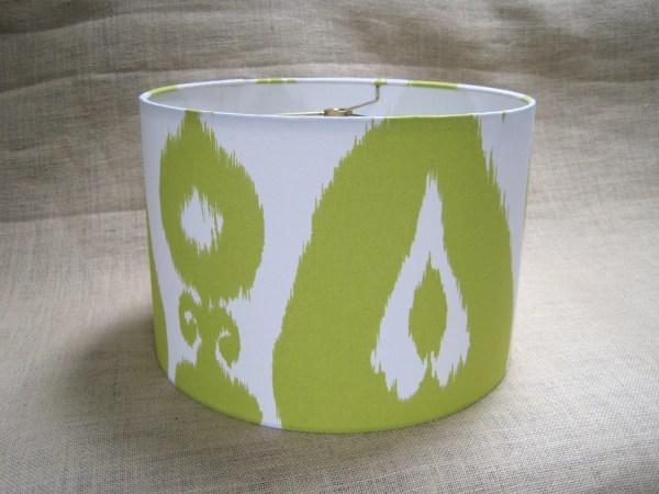 Lamp Shade Drum Lampshade Ikat In Lime Green Sweetdreamshades