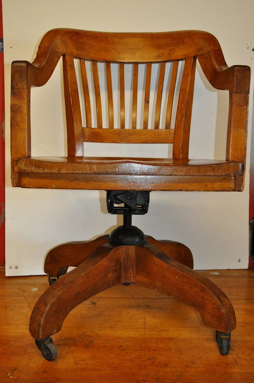 tall swivel chair wood office chairs vintage oak desk teacher's