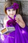 Cute Babies With Purple Dress