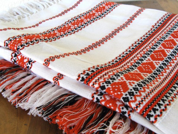Mexican Embroidered Tablecloth with Fringe by MarketHome