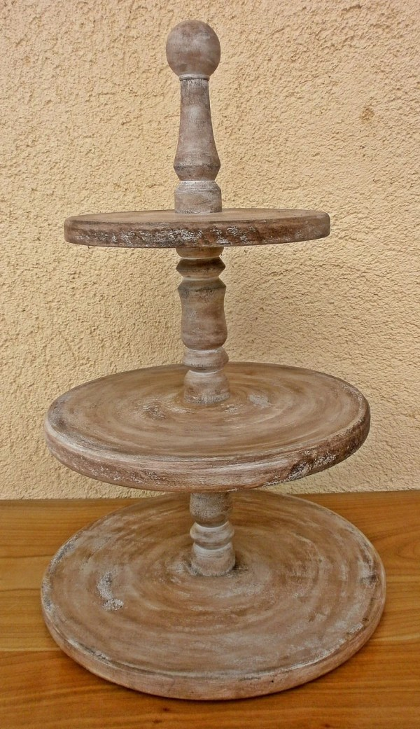 3 Tier Rustic Vintage Wedding Cup Cake Stand