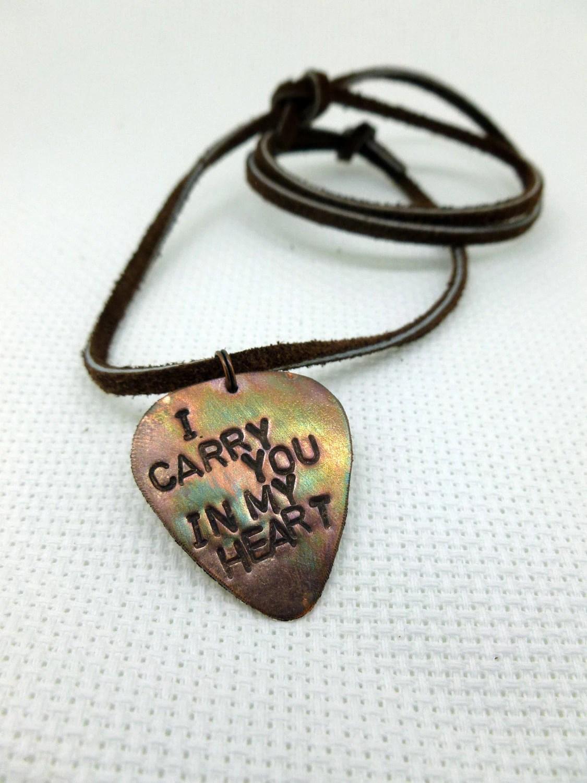 Personalized Pick Men Necklace Guitar