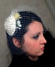 sea shell bridal hair piece