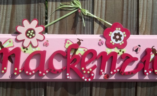 Items Similar To Girls Name Personalized Wall Plaque Sign