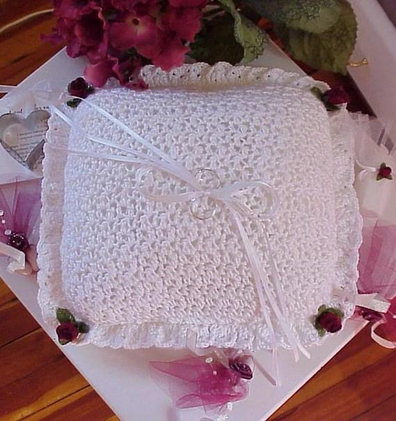 CROCHET PATTERN Wedding Ring Bearer Pillow BRIDAL